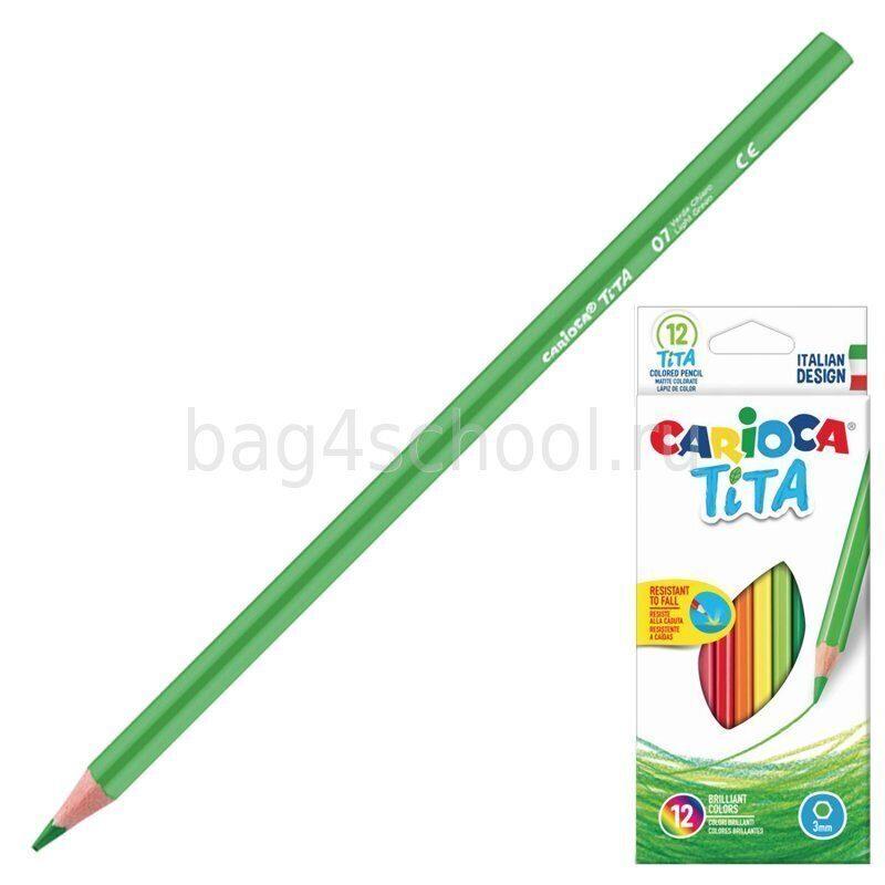 Карандаши цветные трехгранные - Carioca Tita 42786-2