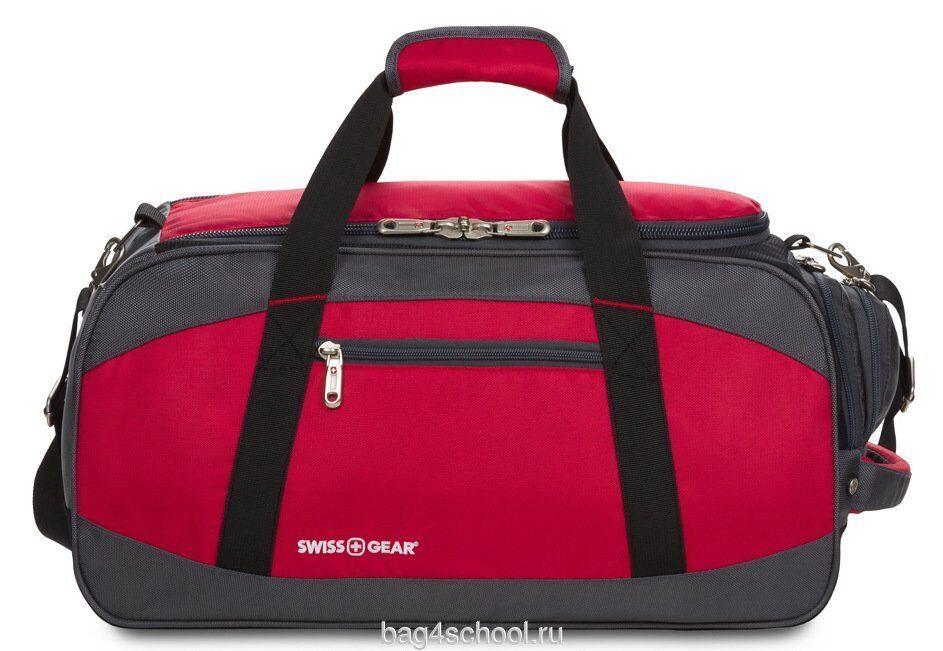 Сумка спортивная SWISSGEAR - красный/серый/чёрный SA52744165 купить в интернет-магазине Школьный Ранец по выгодной цене