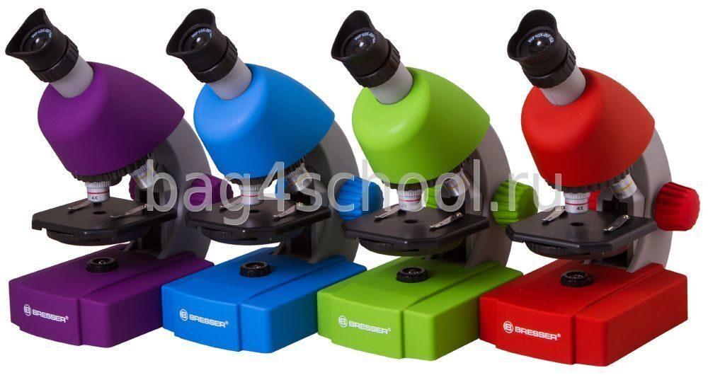 Микроскоп bresser junior 40x 640x фиолетовый