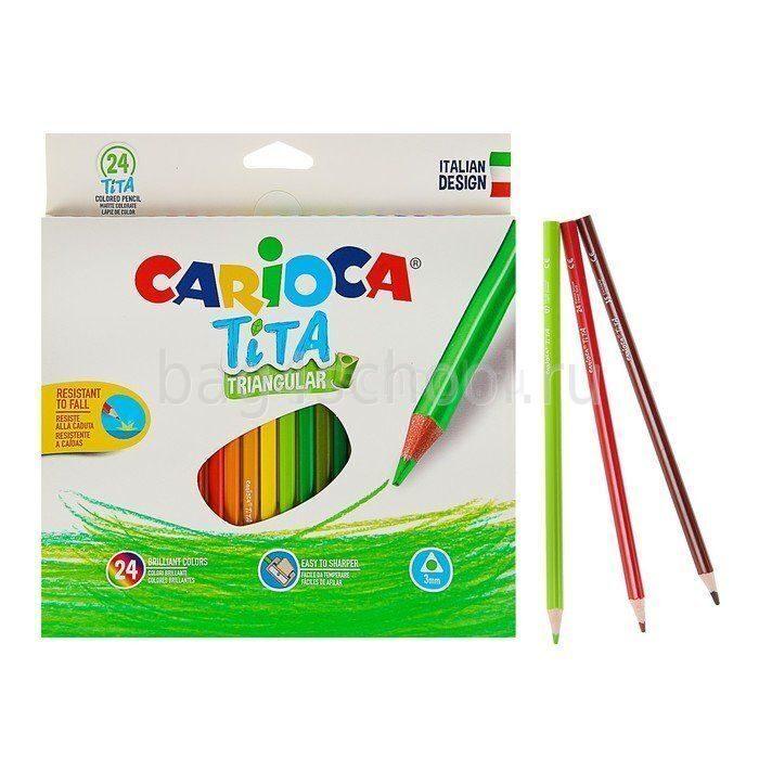Карандаши цветные трехгранные 24 цв. Carioca Tita-42787-2
