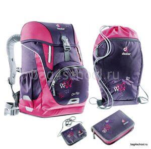 1611dccc0e1a Школьный рюкзак Deuter One Two - Фиолетовая Бабочка 3830015-3029/Set2 с  наполнением